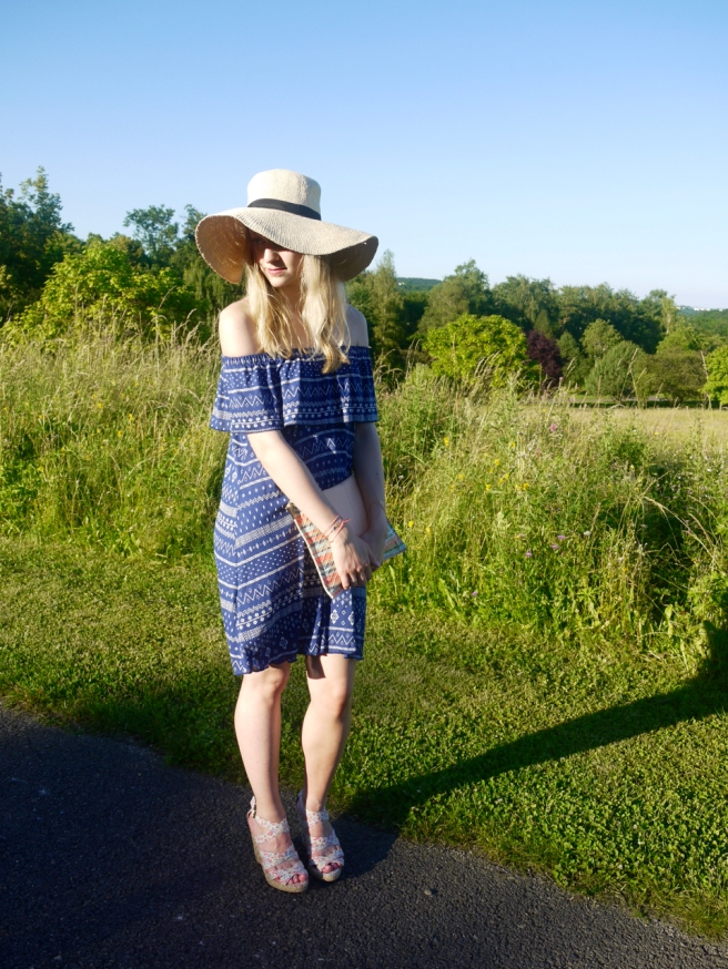 outfit, summer, dress, hat, look, fashion